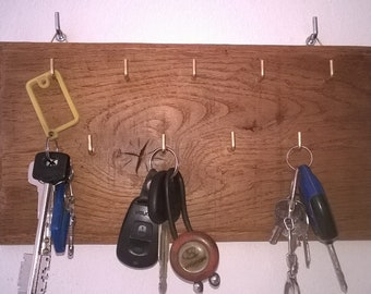 Hand made oak Wall key hanger