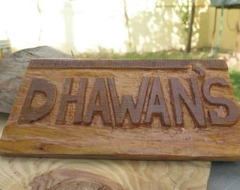 Hand carved wooden Nameplates, Wooden showpiece, Wooden antique Nameplates