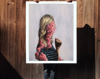 Gone Wild.  extra large wall art . giclee print