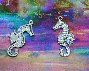 Seahorse Charms Silver Set of 4