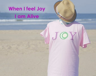 Yin & Yang Living JOY T Shirts to spread JOY around the world