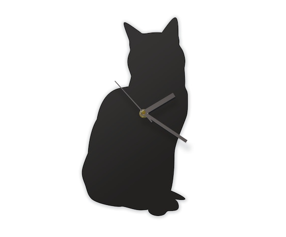 Sitting Cat Clock - A cat that can tell the time