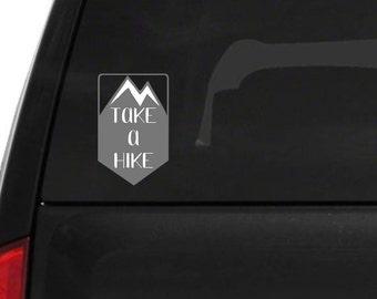 Car Decal   Take a Hike   Vinyl Decal   Mountain Decal   Outdoors Sticker   Car Window Decal   Laptop Sticker   Bumper Sticker   Hiking Gift