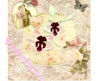 279 - Orchid all occasion greeting card