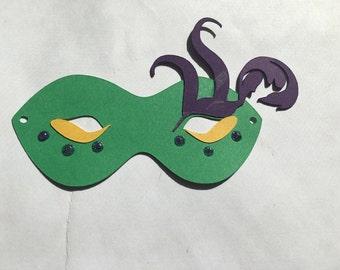 Mardi Gras Masquerade Mask Die Cut