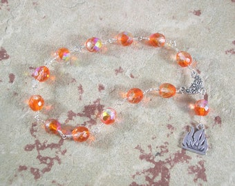 Hestia Wire-wrapped Pocket Prayer Beads: Greek Goddess of the Hearth, Home and Family, Household and Community.