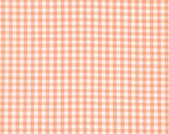 Peach 1/8 Inch Small Gingham from Robert Kaufman's Carolina Gingham Collection - P-5689