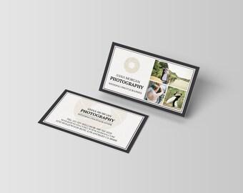 Elegant Photographer Business Cards Template  [PSD   INSTANT DOWNLOAD   Wedding   Portrait   Landscape Photographers]