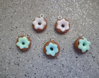 5 Donuts 13 mm handmade Fimo