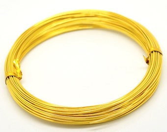 Spool of 20 meters of aluminum wire 1 mm gold