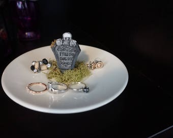 Gothic Tombstone Jewelry Dishes