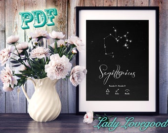 Sagittarius Printable Art