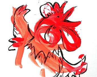 Small Original Art: 49 - Jolly Junglefowl