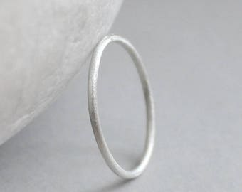 Sterling Silver Ring, Sparkly Silver Ring, Silver Stacking Ring, Sparkly Silver Band, Handmade Sterling Band, 16ga Silver Ring