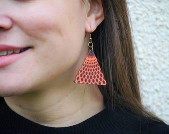 African fabric earrings, Ankara earrings, Wax print earrings, African jewelry, African print earrings, African textile earrings, Africa