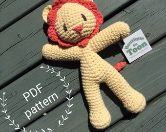 Lucas the Lion - Make your own Amigurumi - Crochet Pattern PDF