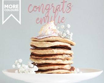 Personalized Graduation Cake Topper, Graduation Cake Topper, Personalised Topper, Wooden Cake Topper, Name Cake Topper, New Job Cake Topper