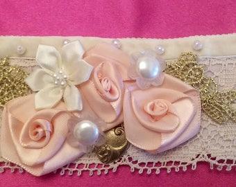 Vintage Lace Victorian Embellished Bracelet