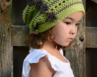 CROCHET PATTERN - Woodland Slouchy - crochet slouchy hat pattern, crochet hat pattern (Toddler, Child, Adult sizes) - Instant PDF Download
