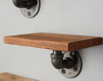 Industrial Floating Shelf, Utilitarian Chic,