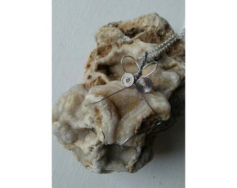 Butterfly Raw Druzy Agate Necklace