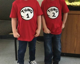Thing 1 and Thing 2 T-shirts