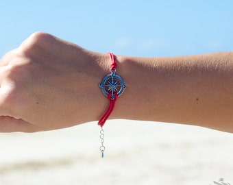 Nautical Wanderlust Compass Travel Bracelet - Multiple Colours