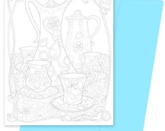 A5 Colouring Card- Hot Chocolate