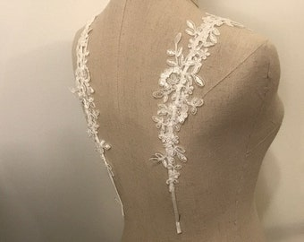 Detachable Lace Straps, in WHITE/ OFF WHITE, Made to Order (DS06)