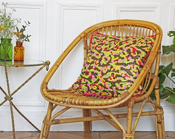 Patterned Camouflage Cushion in Vlisco fabric