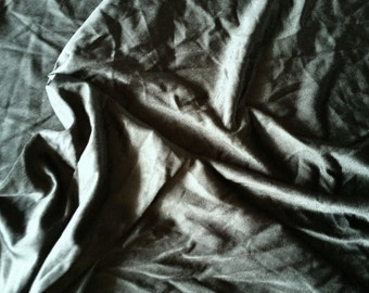 """Black Satin Tricot Poly Blend 2 way stretch 60"""" wide sold by the yard - Free Shipping"""