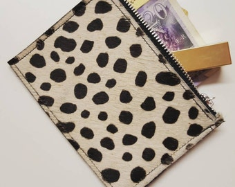 Leather, Hair on Hide Purse - Various colours - MADE TO ORDER