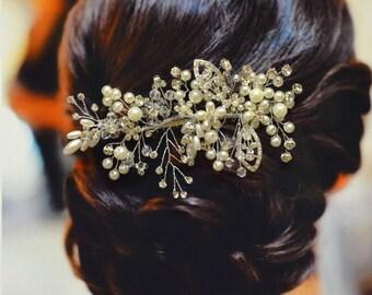 Florenz Braut Haarkamm, Hochzeit Haarkamm, Pearl und Crystal Haare kämmen, Hochzeit Haarschmuck, Braut Kopfschmuck Hochzeit Haarspange