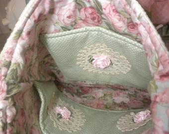 Shabby Chic Handbag Vintage Doilies