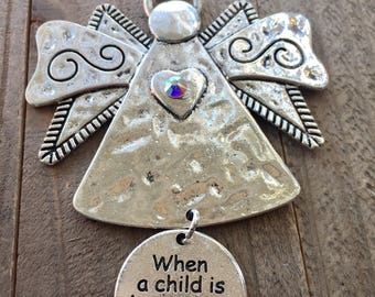 When a Child is Born, Grandma Angel, Grandma Ornaments,  Angel Ornaments, Birth of baby, Nana Ornament,  New Grandma, New Nana. Gift to Nana