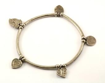 Vintage Bali Design Bracelet Sterling Silver BR 2234