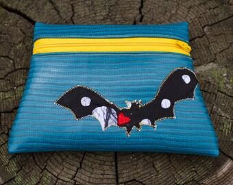 Bat Totem Turquoise Vinyl Pouch