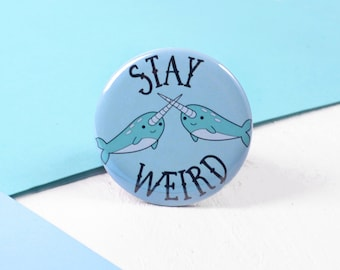 Narwhal Pin Badge - Narwhal Gifts - Cute Button Badge - Kawaii Pin Badge - Guft For Best Friend Teenager Sister Gift