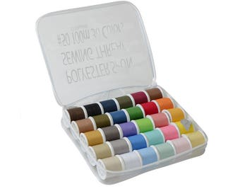 LEONIS 30 Color Polyester All Purpose Sewing Threads [ 93012 ]