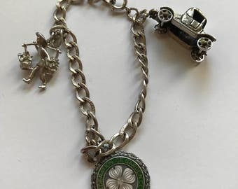 ON SALE!! Sweet 1960s Charm Bracelet with Sterling Silver Charms