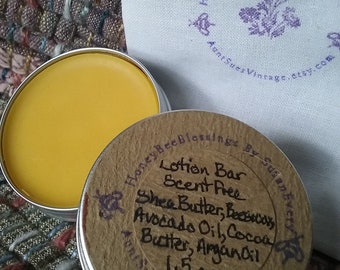 Scent Free Lotion Tins, Organic Ingredients, Honey Bee Blessings