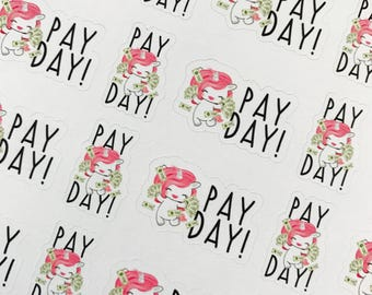 Bubbles pay day sticker sheet