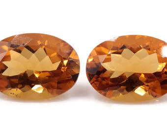Natural Citrine Quartz | Citrine Oval shape faceted | Citrine Loose Gemstone | November Birthstone | Golden Citrine Quartz  10x14mm 10.45ct