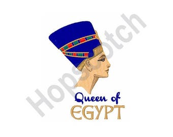 Queen Of Egypt - Machine Embroidery Design, Queen, Egyptian