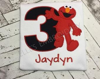 Elmo birthday shirt/ Elmo tshirt/ Sesame Street Birthday
