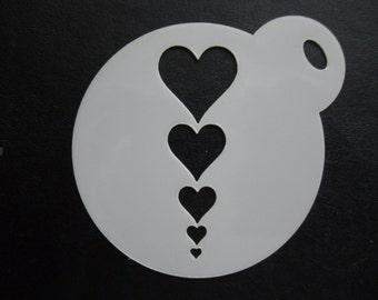 Unique bespoke new laser cut hearts line cookie/face painting stencil