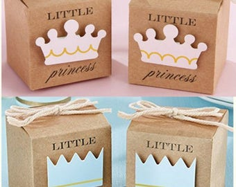 Birthday Favors - Small Favor Boxes - Baby Girl Birthday - Baby Boy Birthday, Set of 12