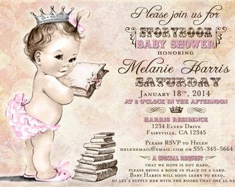 Girl Baby Shower Invitation Storybook Baby Shower Invitation For Girl Baby Shower - Storybook Invitation - DIY Printable