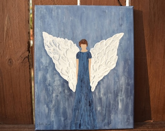 Angel of Hope handpainted on an 8x10 Canvas