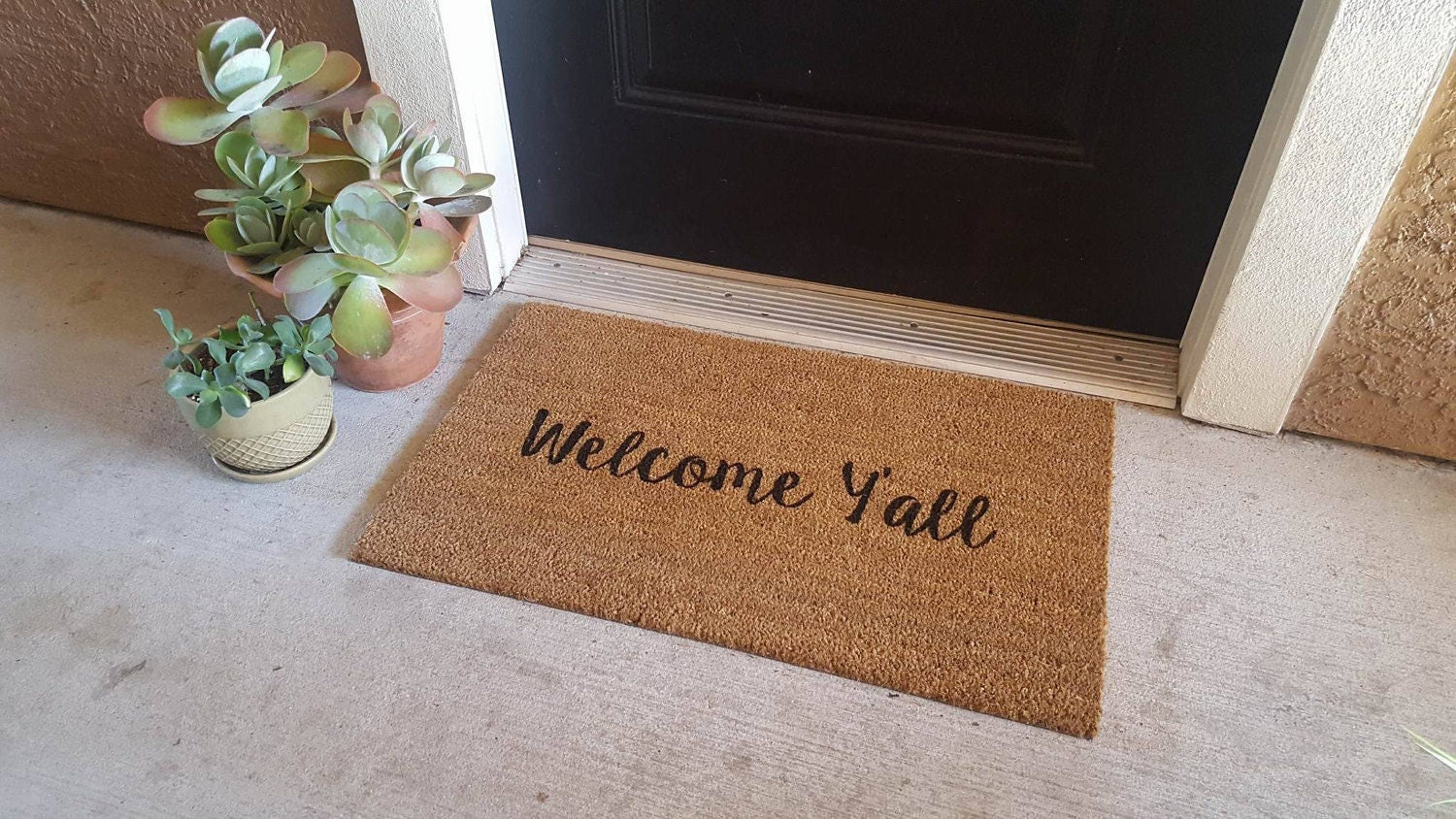 Welcome yall doormat country decor country doormat zoom kristyandbryce Images